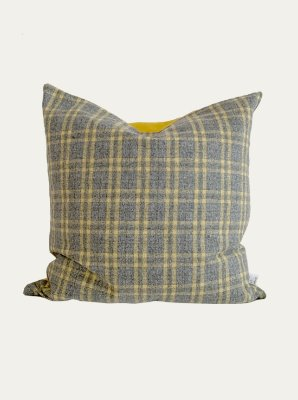 MONO CHECK YELLOW CUSHION